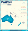 Map of oldest companies in Oceania; February 2020.png