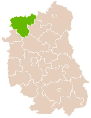 Łuków County - Image: Mapa Pow Łukowski