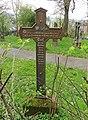 Marburg Friedhof Barfüßertor 028 Kreuz Kloeffler 1857 Rückseite.JPG
