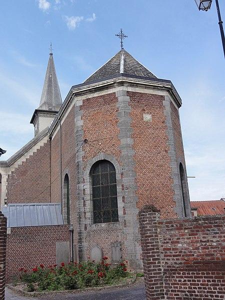 Maresches(Nord,Fr) église, chevet