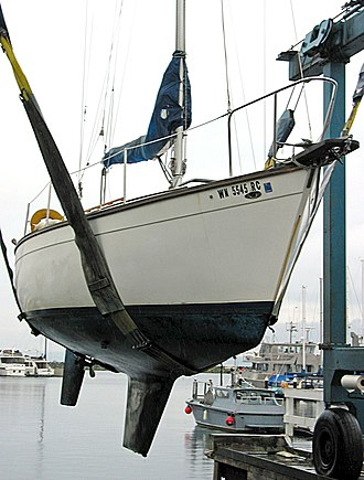 Keel - Sailing yacht with a fin keel