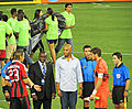 Mariano Rivera ready to toss coin at AC Milan vs Real Madrid.jpg