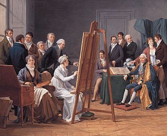 Adélaïde Labille-Guiard - Atelier of Madame Vincent, 1808. Painting of Adélaïde Labille-Guiard painted in 1808 by her pupil Marie Capet.