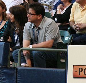 Mark Attanasio - Mark Attanasio with his wife at Miller Park