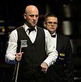 Mark King and Ingo Schmidt at Snooker German Masters (DerHexer) 2015-02-04 04.jpg