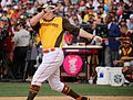 Mark Trumbo competes in semifinals of '16 T-Mobile -HRDerby. (28492221601).jpg