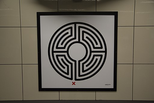 Das Labyrinth 233/270 in der U-Bahn Station Hyde Park Corner, Foto: © Jack Gordon