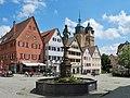 Markgröningen Marktplatz mit Brunnen.jpg