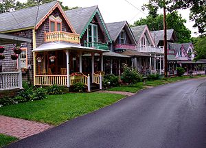 English: Cottages, Martha's Vineyard, Massachu...