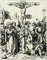Martin Schongauer - Christus am Kreuz mit würfelnden Kriegsknechten (L 13).jpg