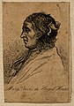 Mary Davis, a woman with horns. Wood engraving. Wellcome V0007049ER.jpg