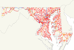 Maryland state highways map.png