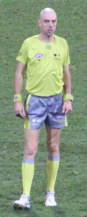 Mathew Nicholls - Nicholls at a game between the Brisbane Lions and the Gold Coast Suns in August 2017