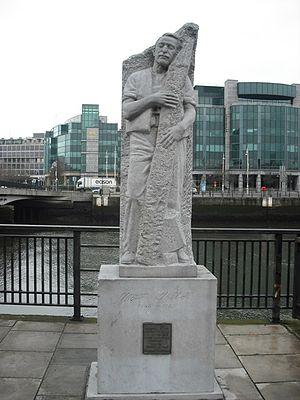 Matt Talbot - Statue of Talbot near Dublin's Talbot Memorial Bridge