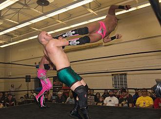 Matt Taven - Taven performing a missile dropkick on Sebastian Suave