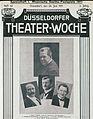 Max Grube (1), Heinrich Rupprecht (2), Georg Hacker (3), Karl Uhlig (4), Rheinische Goethe-Festspiele 1911, Titelblatt Düsseldorfer Theater-Woche, 24. Juni 1911, 2. Jahrg., Heft 42.jpeg