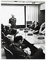 Mayor John F. Collins at USAF School of Aerospace Medicine listening to unidentified speaker (10158801555).jpg