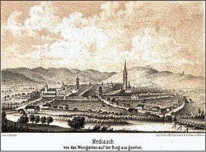Mediaș - Mediaș in 1862