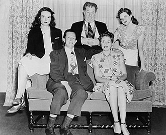 Forrest Lewis - Lewis, seated on sofa with Fran Allison, from the radio program Meet the Meeks in 1947.  Lewis played Mr. Meek in the comedy.