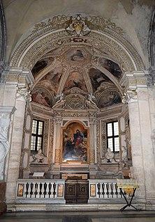 Mellini Chapel (Santa Maria del Popolo) building in Rome, Italy