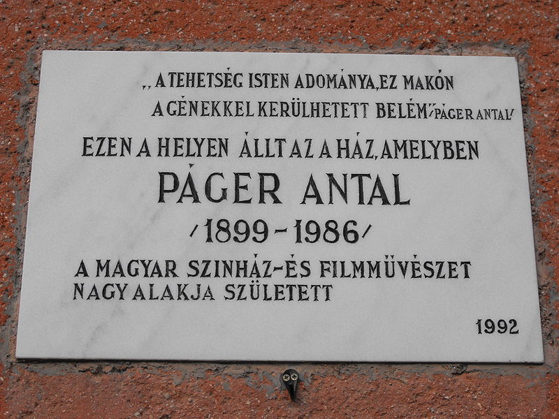http://upload.wikimedia.org/wikipedia/commons/thumb/3/3a/Memorial_tablet_P%C3%A1ger_Antal.jpg/800px-Memorial_tablet_P%C3%A1ger_Antal.jpg
