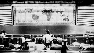 Mercury-Atlas 6 - View of Mission Control during the Mercury-Atlas 6 mission