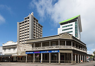 Reserve Bank of Fiji - Reserve Bank of Fiji (tall building on the left) in Suva