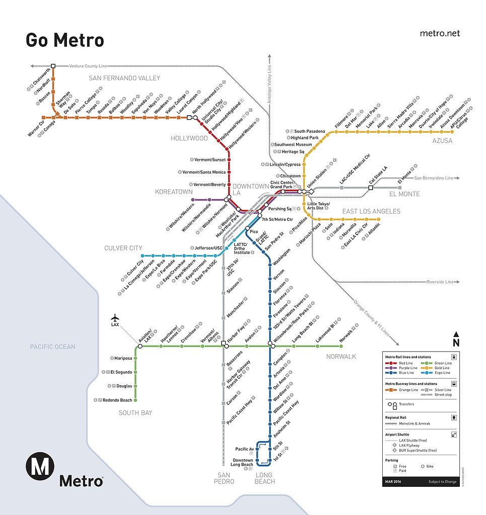 FileMetro Rail Mapjpg Wikimedia Commons - Los angeles metro map 2016