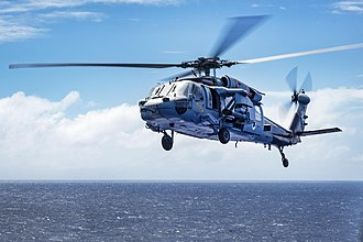 Helicopter rotor - MH-60S Sea Hawk in flight