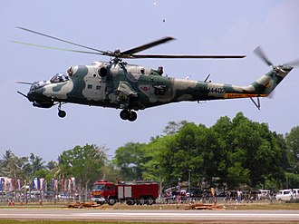 No. 9 Squadron SLAF - Mi-24V of No. 9 Attack Helicopter Squadron SLAF