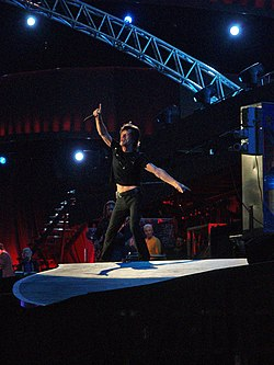 Mick Jagger at Vicente Calderon, Madrid 2007.jpg