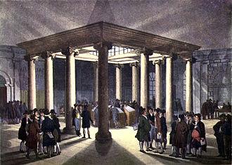 Coal Exchange (London) - Interior of the 1805 London Coal Exchange. C.1808