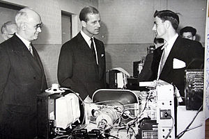MidKent College - The Duke of Edinburgh visits the college's electronics department as he opens the Horsted site