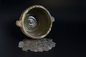 Middleham Hoard - A selection of the hoard's coins now in the Yorkshire Museum