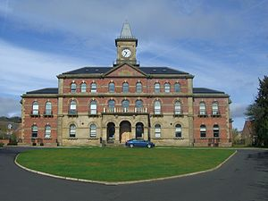 Middlewood Hospital - The main admin building for the hospital, known as the clock tower has been converted into 38 apartments.