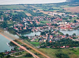 Mikołajki - Aerial view of Mikołajki