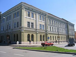 Sfântu Gheorghe - The main building of the Mikó High School