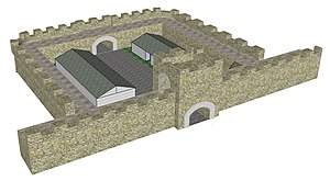 Milecastle - Image: Mile Castle Top Elevation 2