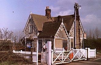 Millbrook railway station (Bedfordshire) - Millbrook station, January 1985
