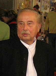 Milorad Pavić at the 2007 Belgrade Book Fair