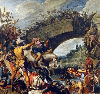 Civil wars of the Tetrarchy - The Battle of the Milvian Bridge saw the death of Maxentius in 312 AD.