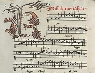 Missa brevis - Image: Missabrevis Van Weerbekestart