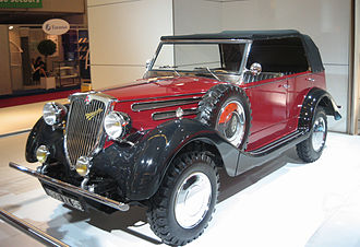 Mitsubishi Motors - A 1937 Mitsubishi PX33 on display at the Mondial de l'Automobile in September 2006.