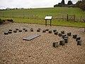 Modern wooden sundial - geograph.org.uk - 1728699.jpg