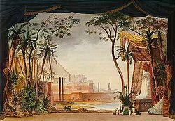 Декорація опера мойсей і фараон 1827