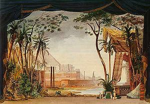 Mosè in Egitto - Act 1 set design of the original 1827 production