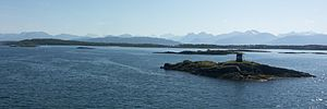 Moldefjord - View of the skerries in the fjord