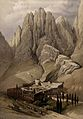 Monastery of St. Catherine beneath Mount Sinai. Coloured lit Wellcome V0049451.jpg