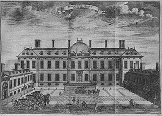 Montagu House, Bloomsbury - The entrance front.