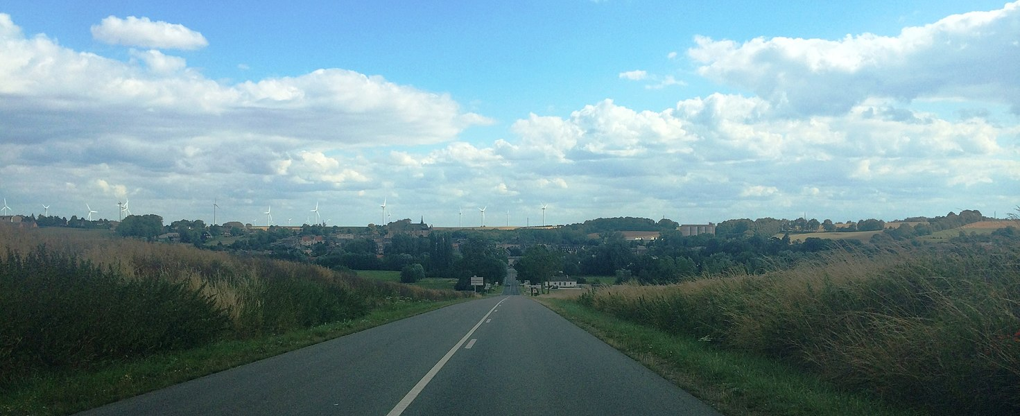 View from the small town of Montcornet in Northern France / Aisne / Champagne area.